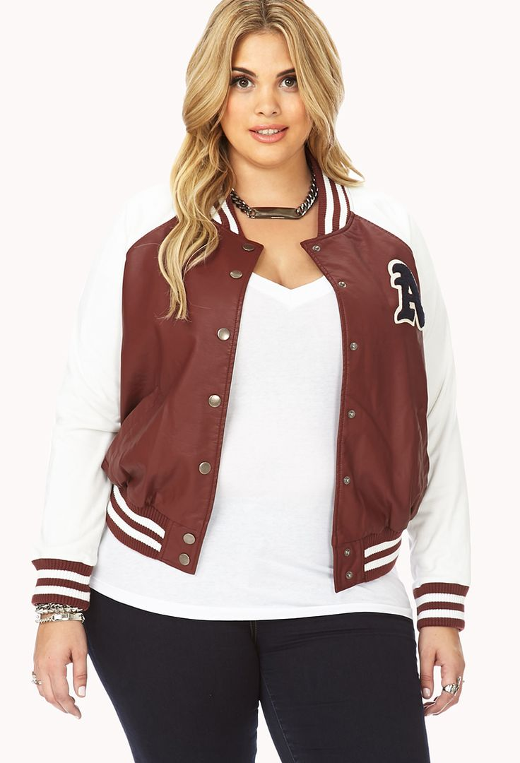 Womens Varsity Jacket Plus Size