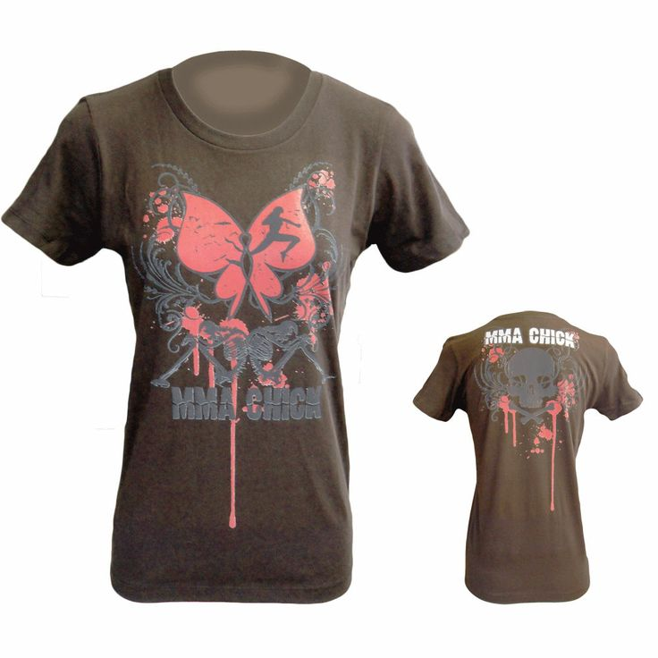 MMA Chick Fallen Womens T-Shirts are super soft tear away label t-shirts that are perfect for any boxing fight.