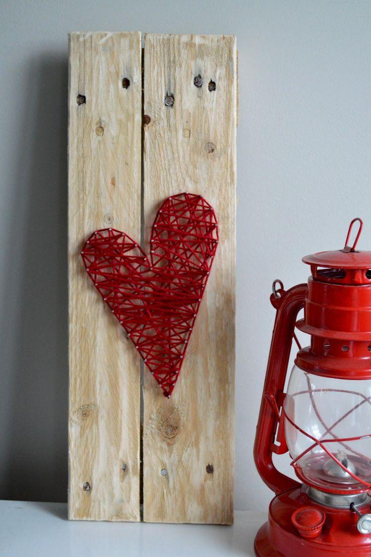 String art sur palette de bois recyclée