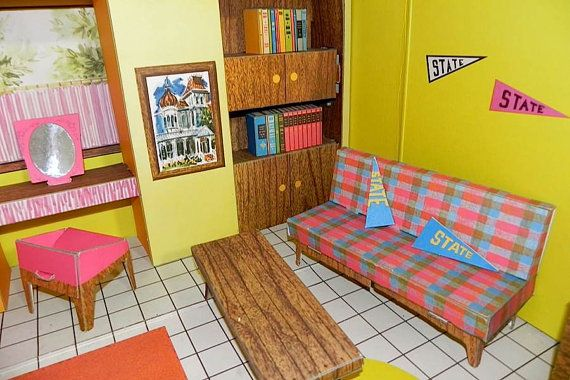 Vintage 1962 Barbie Dream House Complete with Furniture great shape -on sale- on Etsy, Sold