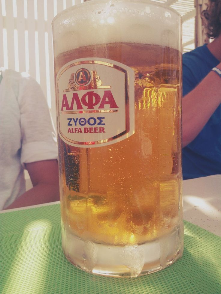 Cold beverage in Greece