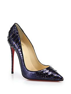 Christian Louboutin - So Kate Metallic Python Pumps
