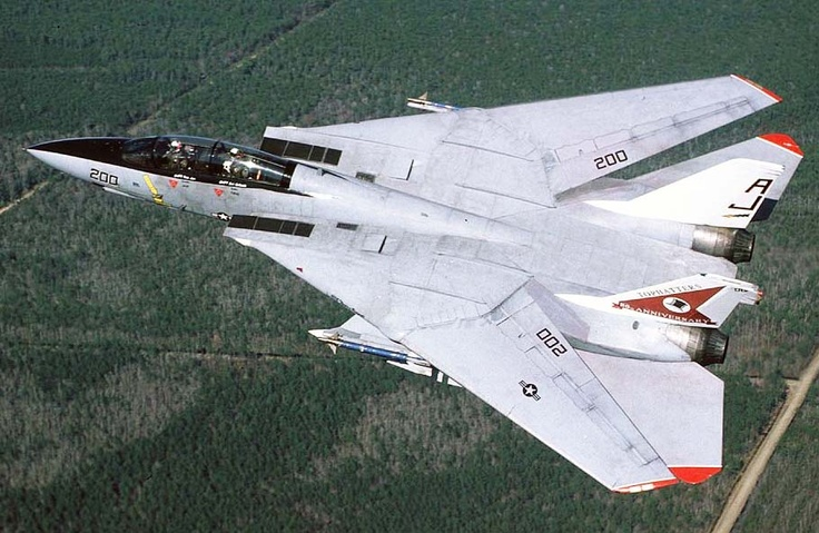 The Grumman F14 Tomcat is a supersonic, twinengine, two