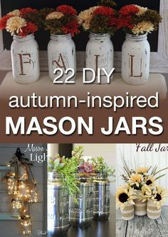 If you love mason jars, you need to see these projects! These would make amazing centerpieces for the holidays...or even as gifts!