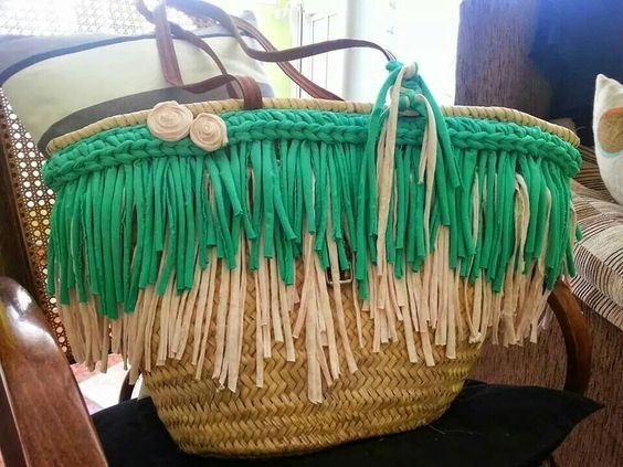 Customiser son panier avec un t-shirt recyclé – Sakarton