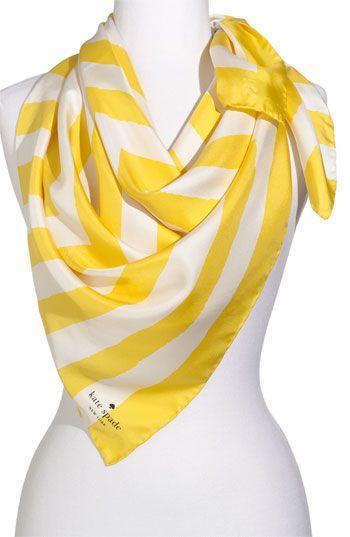 Precious Kate Spade Scarf in Yellow and White Sailor Stripe
