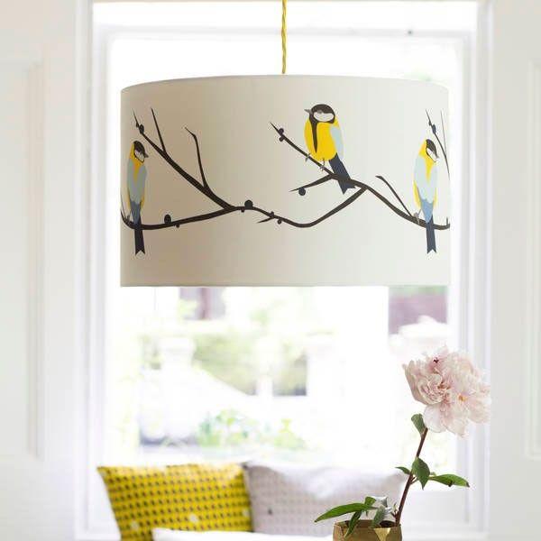 Lorna Syson Juneberry U0026 Bird Lampshade   Small 20cm Diameter X 14cm Deep |  JunSH |