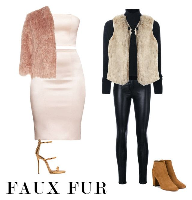 """Faux fur"" by fhk21 on Polyvore featuring Versace, Le Kasha, Theory, Aquazzura and Giuseppe Zanotti"