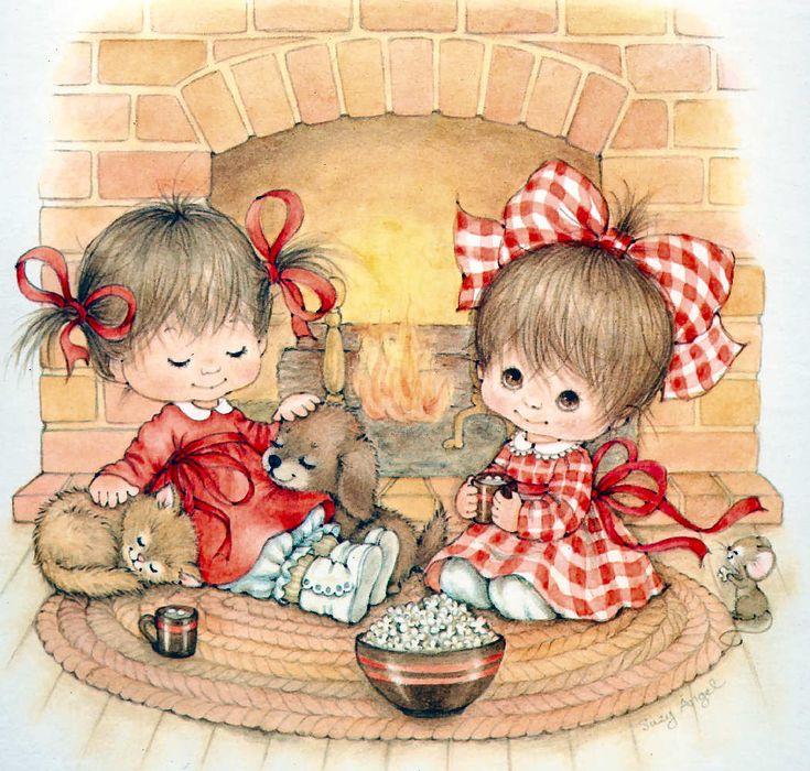 SUZY ÁNGEL Calendario Ilustraciones para manualidades, SOUVENIRS, tarjetas
