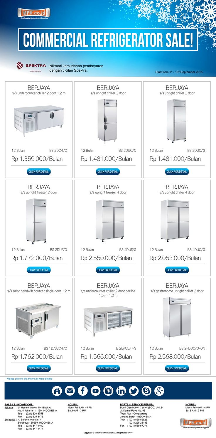 """Commercial Refrigerator Sale""."