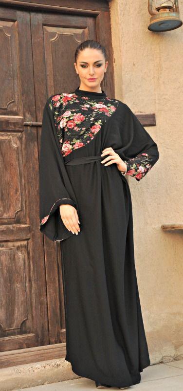 New Jojo abaya, French touch in Arab dress ! See it at www.facebook.com/xelafashions
