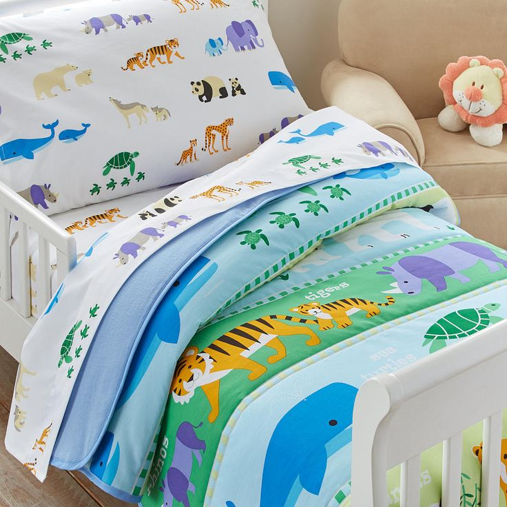 Pandas, whales, tigers, sea turtles-all of these adorable animals inhabit our Endangered Species bedding. Each creature on this cuddly design represents an endangered species in need of protection. Mothers and babies stride across colorful stripes on our comforter, inspiring hope for earths most endangered animals!<br><br>The Olive Kids Endangered Animals Toddler Bed Comforter Set Features:<br><ul><li>Includes one super comfortable comforter</li><br...