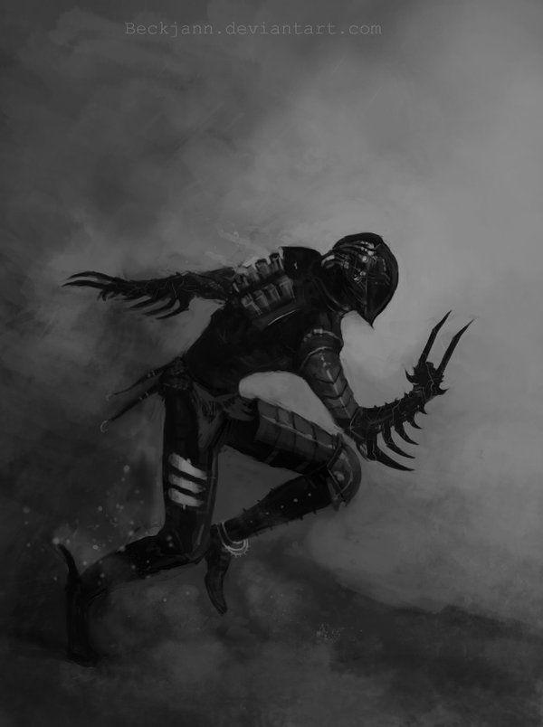 Dark Eldar: Wych with Hydra Gauntlets 2 by Beckjann on deviantART