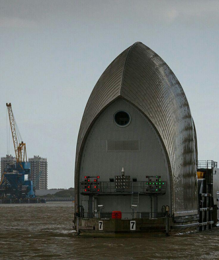 Thames barrier.