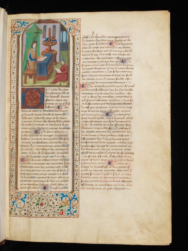 Jean de Courcy, La Bouquechardière entre 1416 et 1422 Bibliothèque de Genève (exemplaire de Marguerite à la KBR ms. 9503-04