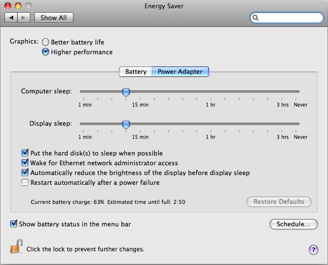 MacBook Pro (15-inch, Late 2008), (17-inch, Early 2009), (15-inch and 17-inch, Mid 2009): How to set graphics performance - Apple Support