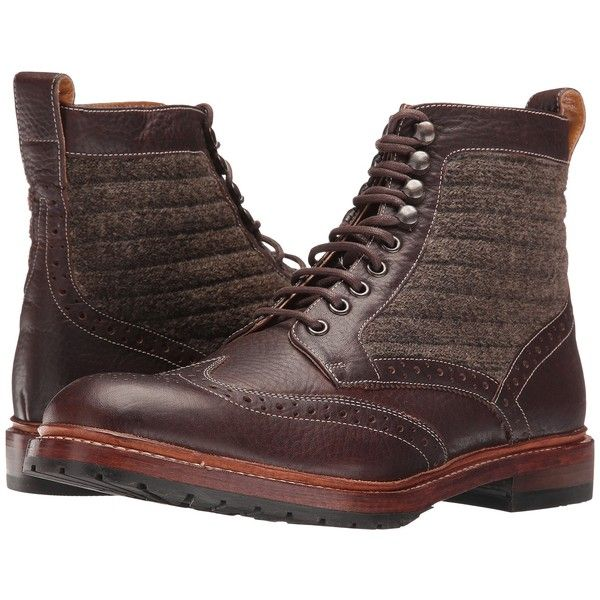 Stacy Adams Madison II Wingtip Lace Boot (Brown Multi) Men's Lace-up... ($93) ❤ liked on Polyvore featuring men's fashion, men's shoes, men's boots, brown, mens boots, mens lace up boots, mens round toe cowboy boots, mens wingtip shoes and mens round toe shoes