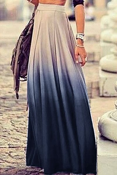 Ombre Long Skirt