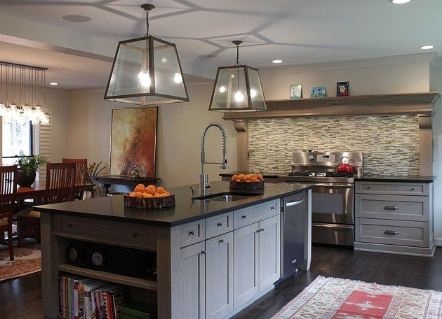 2014 Kitchen Trend: Dramatic Black Counters - Yahoo Homes...also like gray