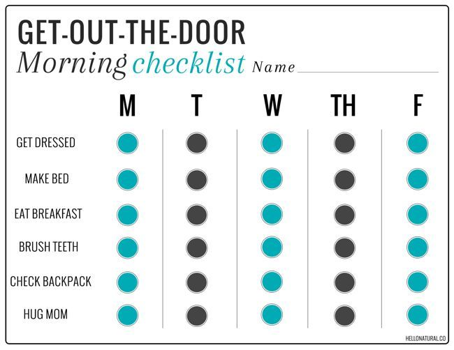 A smooth morning routine calls for these tips + our get-out-the-door checklist.