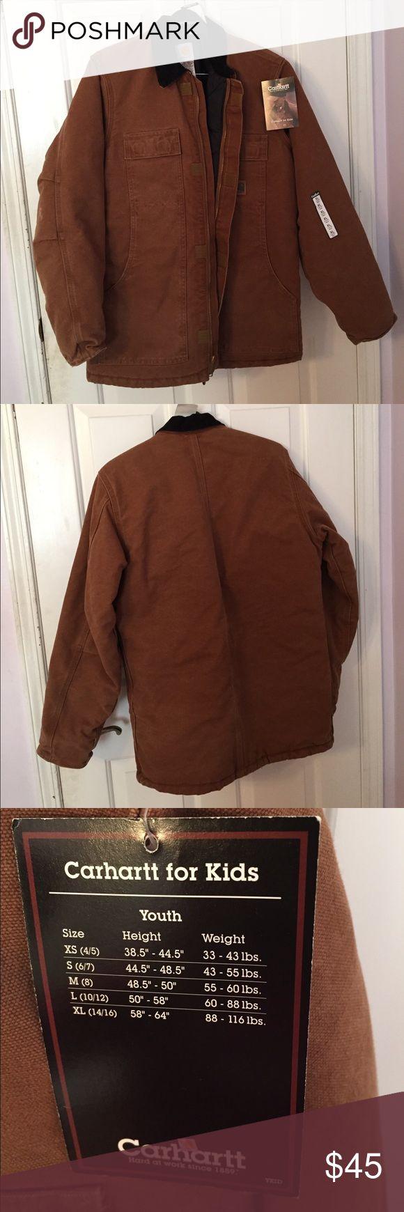 Kids Carhartt winter jacket Kids Carhartt chestnut color winter jacket. Heavily lined with black quilt material . NWT Carhartt Jackets & Coats