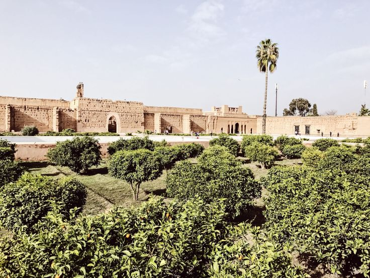 Palatul El Badi palace in Marrakech