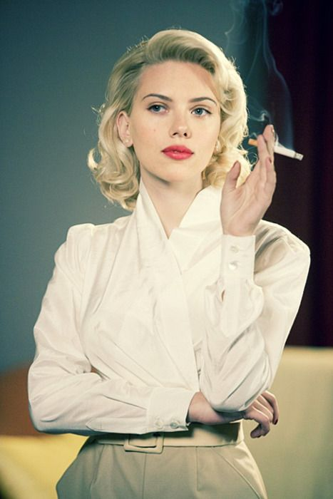 Love this blouse worn by Scarlett Johansson for The Black Dahlia. I think something similar could be achieved with this Decades of Style pattern: http://www.decadesofstyle.com/vintage-patterns-1950s/5201-1952-wrap-blouse