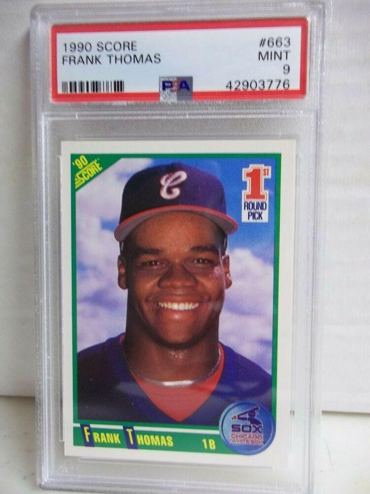 1990 score frank thomas rookie psa mint 9 baseball card