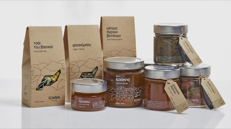 ICARIA PURE products -  supreme quality honeys, preserves and jellies, chutneys & pickles, rare and wild herbs all coming from the beautiful, remote and unspoilt Aegean island of Ikaria.