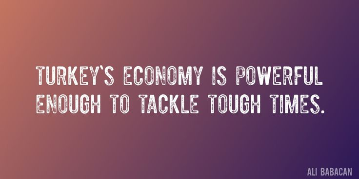 Quote by Ali Babacan => Turkey's economy is powerful enough to tackle tough times.