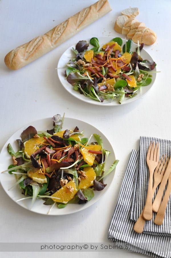 Due bionde in cucina: Insalata invernale con speck