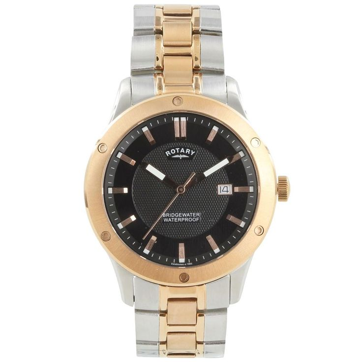17 best images about rotary watches lady rose gold mens rotary two tone rose gold coloured bracelet watch gb02742 04