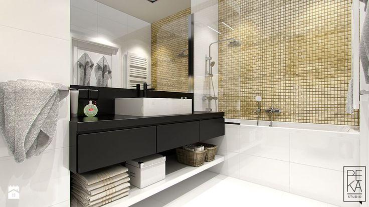NOWOCZESNY MIX - Średnia łazienka w bloku, styl nowoczesny - zdjęcie od PEKA STUDIO