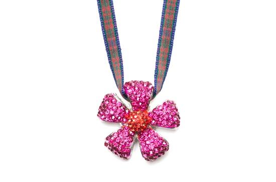 Dazzle necklace - pink / Macdonald tartan