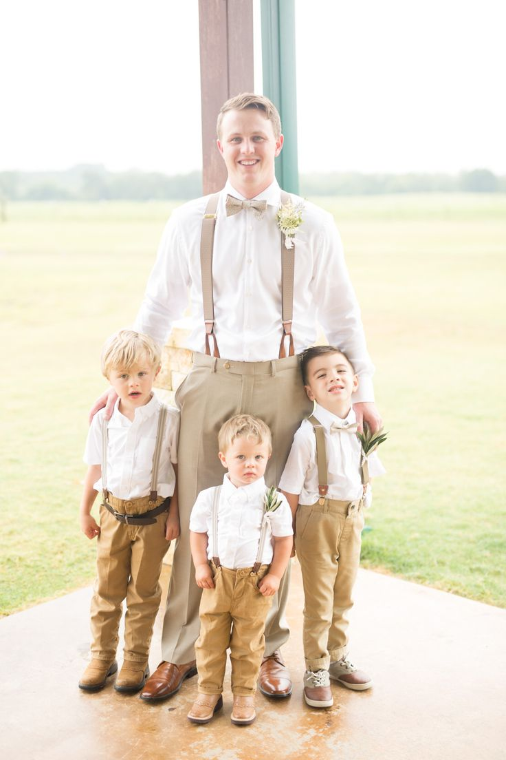 Ring Bearer outfits with suspenders – Megan Kay Photography, Dallas Wedding Photography