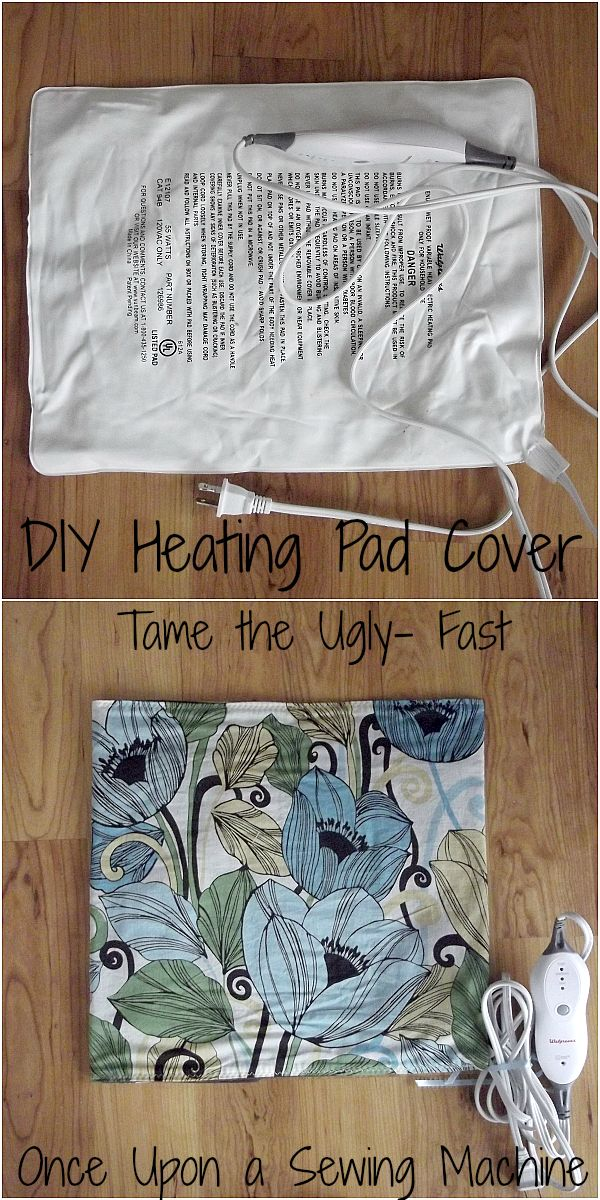 DIY Heating Pad Cover- Cover the Ugly Easily!