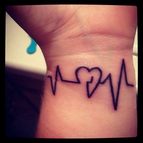heart beat tattoo tattoos i like pinterest heart