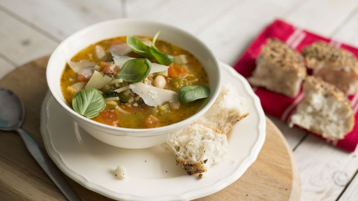 A flavoursome soup that makes the most of spaghetti and vegetables.