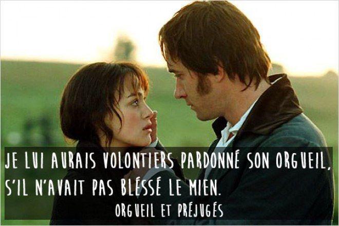 Citation film d'amour, Orgueil et préjugés