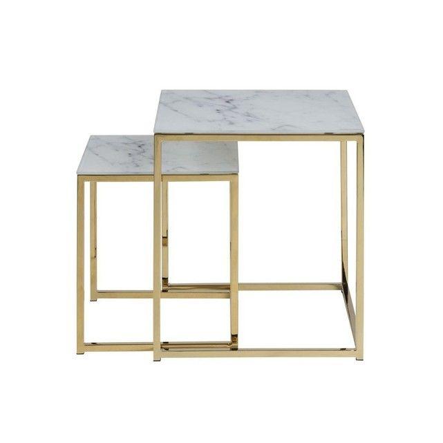 Aussi Baroques Que Contemporaines Les Tables Basses Gigognes Silas Sont D Une Elegance Rare Avec Un Platea Table Basse Baroque Table Basse Gigogne Table Basse