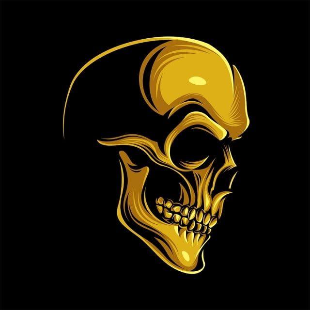 Zolotoj Cherep Cherep Cherep Znachki Cherepa Cherep Png I Vektor Png Dlya Besplatnoj Zagruzki Skull Illustration Skull Coloring Pages Skull Icon