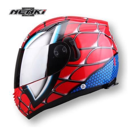 [Visit to Buy] (1pc&6colors) DOT Approval Nenki Brand Double Lens Helmet Wolverine&Spind Man Motorcycle Full Face Helmets Casco Casque #Advertisement