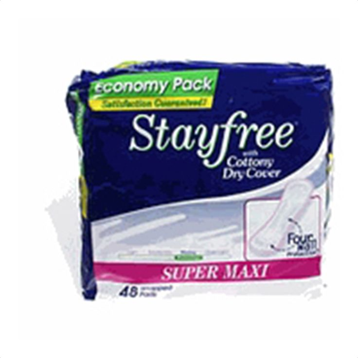 Buy Stayfree Super Maxi Pads Heavy Protection, Super 7100 - 48 pads | Stayfree Super Maxi Pads contain four wall protection designed for leak protection side to side and front to back. myotcstore.com - Ezy Shopping, Low Prices & Fast Shipping.