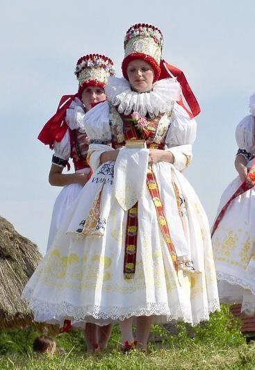 hanácká nevěsta / A bride from Haná region. Haná or Hanácko is an ethnic region in central Moravia in the Czech Republic.