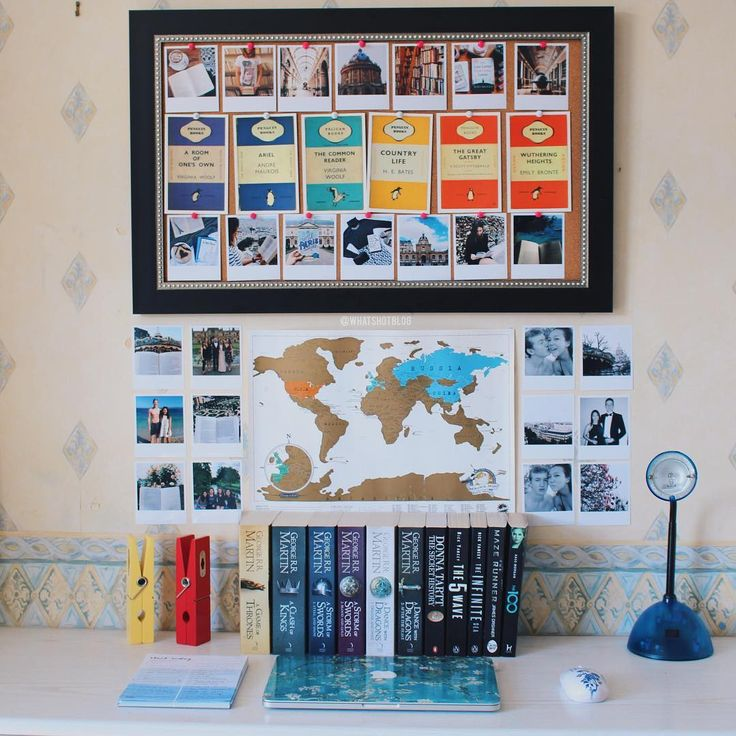 Been rearranging my desk space and decorating my bedroom wall! Love these…