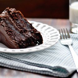 Possibly the easiest chocolate cake ever - moist, rich, and deeply chocolaty...