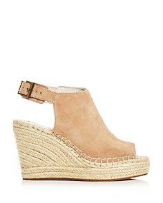 Kenneth Cole - Women's Olivia Suede Espadrille Wedge Platform Sandals