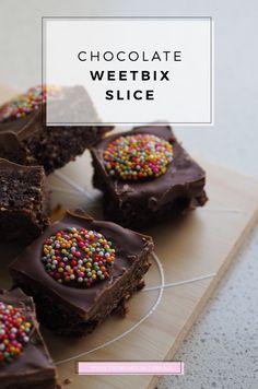 Chocolate Weetbix Slice Recipe http://fatmumslim.com.au/chocolate-weetbix-slice-recipe/