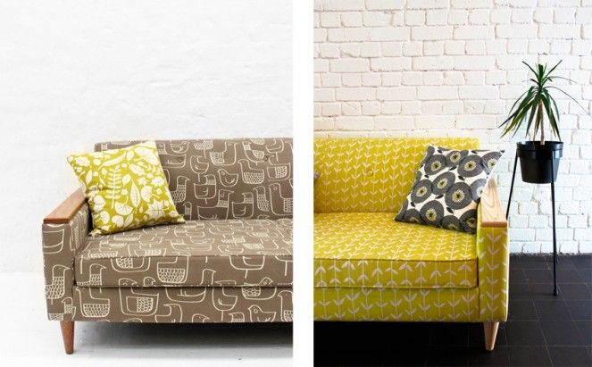 custom 50's-style 2-seater sofas, made to order ~ Skinny LaMinx