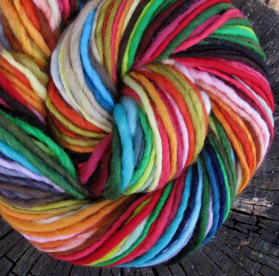 Yarnbow handspun self-stripingcolor-changing wool yarn